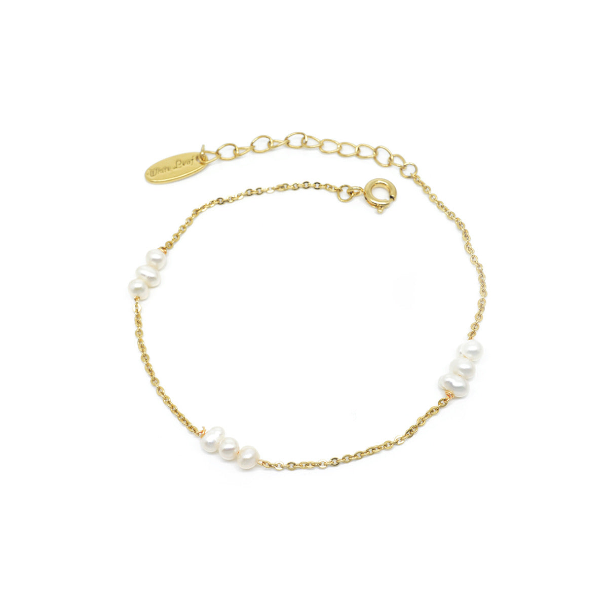 Fine pearl and gold bracelet with fresh water pearls