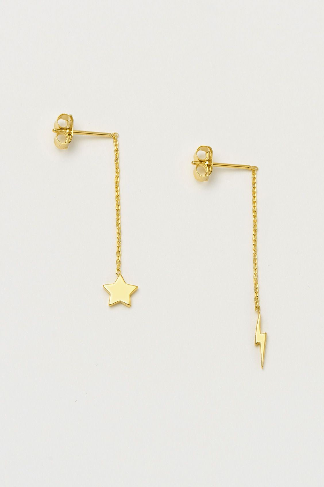 Star and lightening bolt earrings