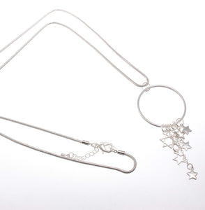 Long Pendant Style Necklace with cascading stars