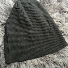 Solid Ribbed Cotton Beanie