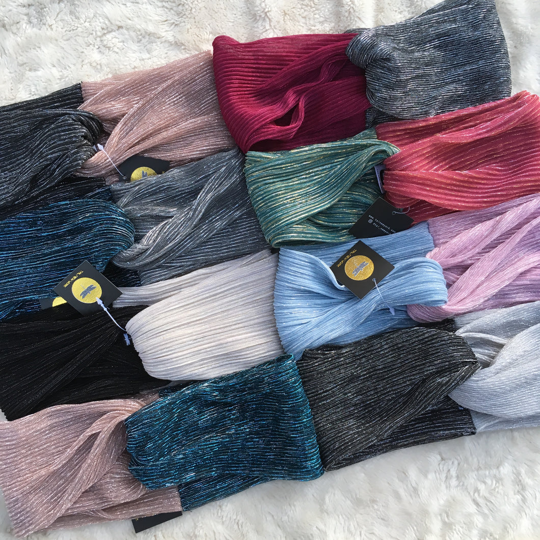 Two Tone Shimmer Rainbow Turbans