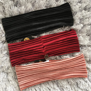 Velour Ribbed Bands