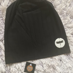 WIDE Ribbed Tal Logo Beanie