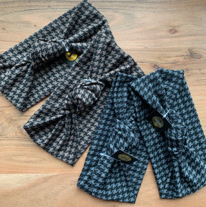 Houndstooth Knit Knot Bands