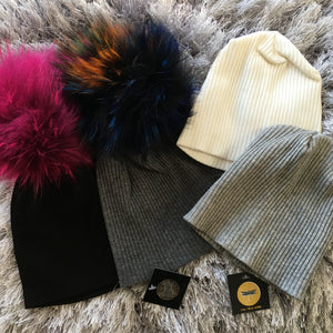 Solid Ribbed Baby & Child Beanie (Optional Pom)