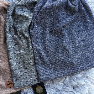 New Heather Ribbed Beanies