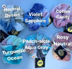 Tropical Tie Dye Scrunchies