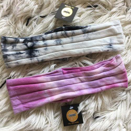 Thin Width Capsule Cotton Ribbed Band - TIE DYE