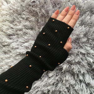 Long Pearl Sweater Gloves