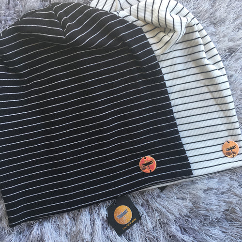 Jersey Cotton Stripe Beanie