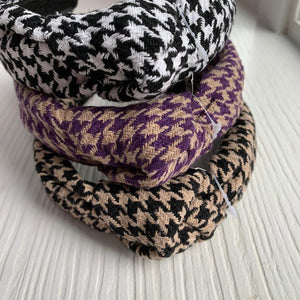 Spring Houndstooth Hard Headband