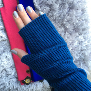 Long Ribbed Sweater Gloves
