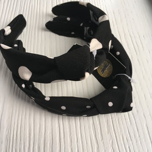 Polka Dot Hard Headband