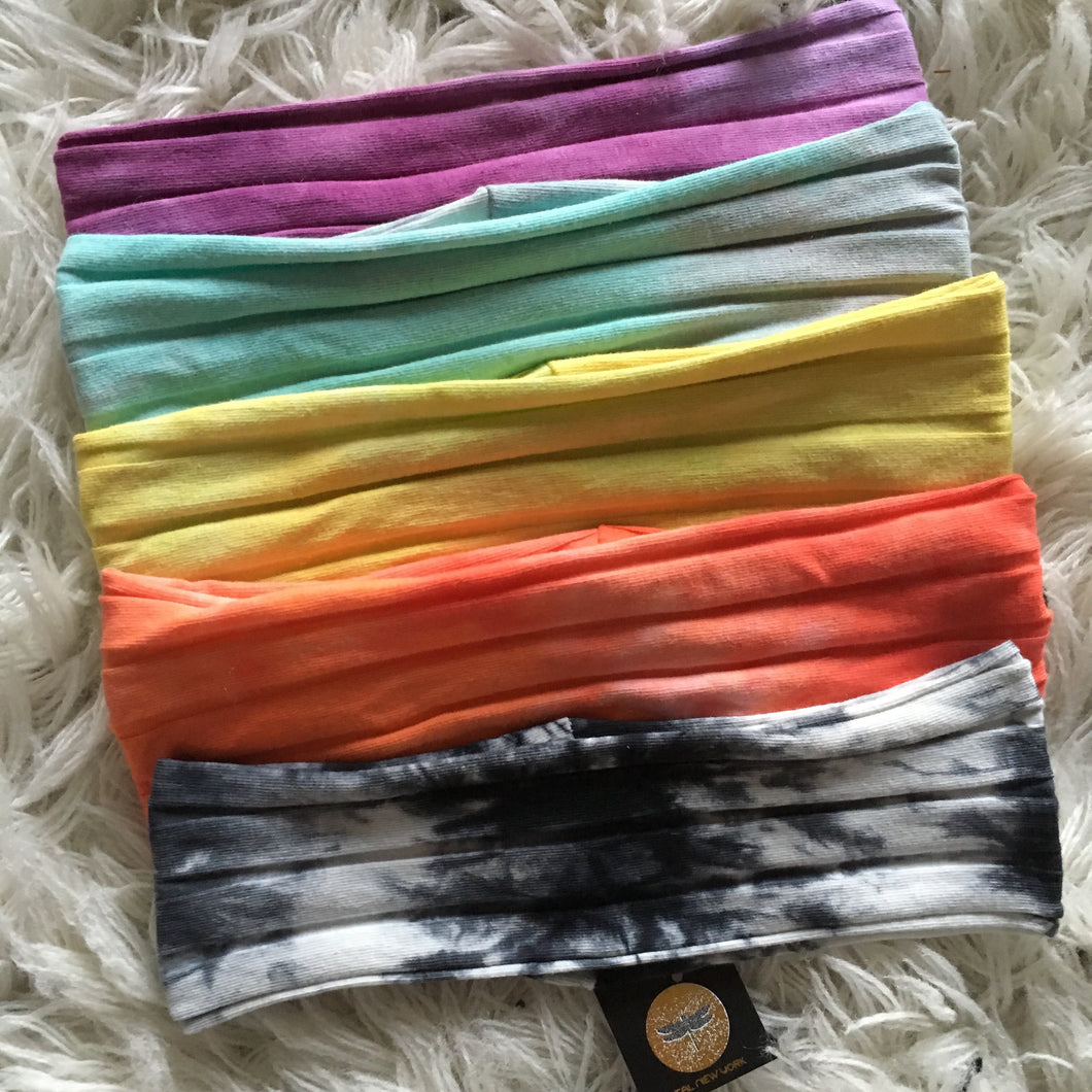 Capsule Cotton Ribbed Band - TIE DYE (Standard/Wide) **NEW COLORS ADDED