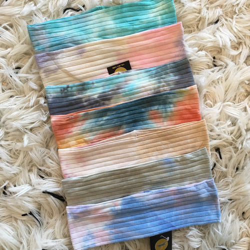 Thin Width Tropical Tie Dye Bands