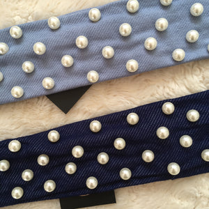 Skinny Full Pearl Denim Band