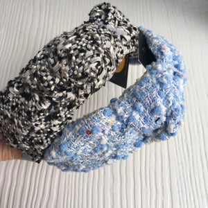 Pretty Blue and Gray Hard Headband