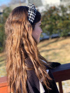Houndstooth Hard Headband