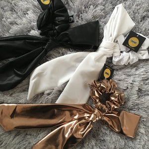 Leather Tie Scrunchies