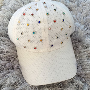 Rainbow Gem White Dry Fit Cap
