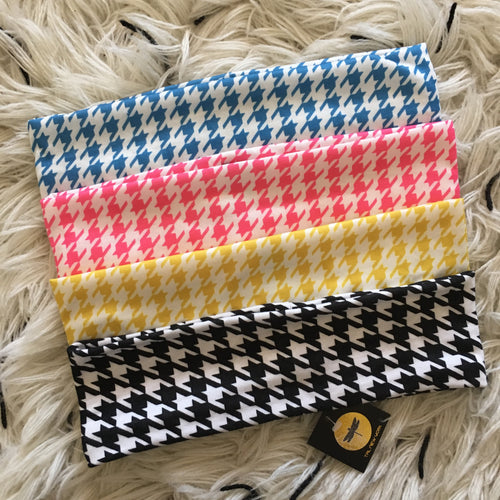 Thin Width Houndstooth Cotton Band