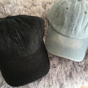 Solid Denim Caps