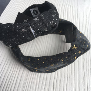 Denim Stardust Hard Headband