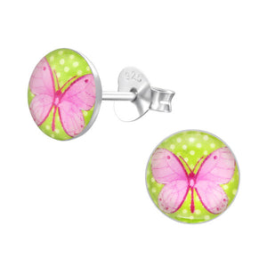 Pink Butterfly Earrings