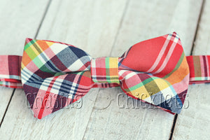 Poppin' Plaid Bow-Ties : Rockin' Red