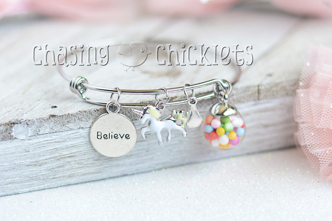 Believe Charm Bangle or Necklace