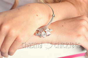 Wish Upon a Star Charm Bangle or Necklace