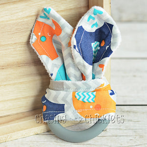 Chevron Elephant Teether