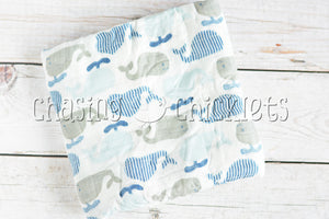 Whale of a Tale Muslin Swaddle