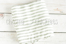 Grey Stripe Muslin Swaddle