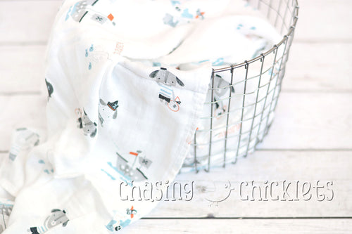 Ahoy There! Muslin Swaddle