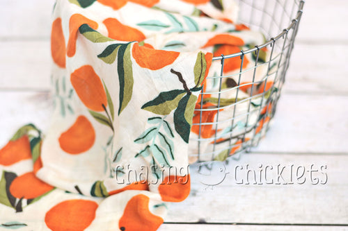Citrus Bliss Muslin Swaddle