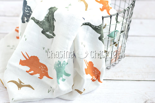 Dino-Might! Muslin Swaddle