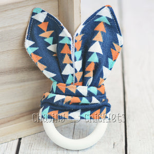 Navy Triangles Teether
