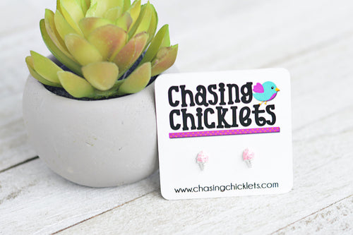 Strawberry Icecream Earrings