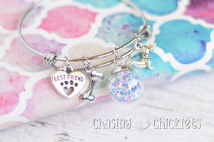 Girls Best Friend Charm Bangle or Necklace
