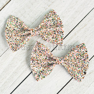 Dainty - Multi Glitter Hair Bow