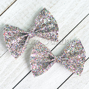 Northern Lights - Multi Glitter Hair Bow