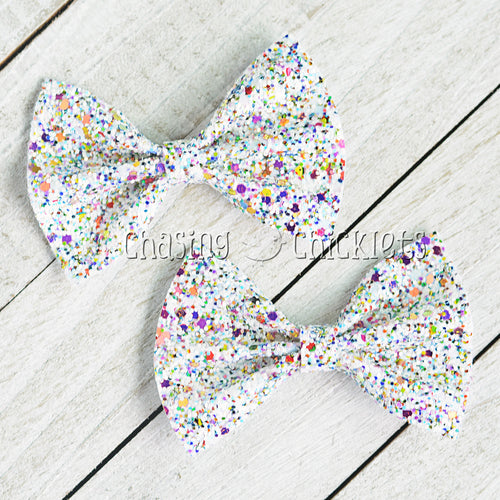Confetti - Multi Glitter Hair Bow