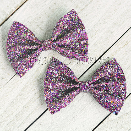 Royal - Multi Glitter Hair Bow