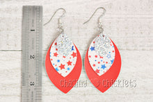 4th of July Earrings - Triple Layer