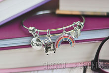 Book Worm Charm Bangle