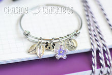 Purple Panda Charm Bangle