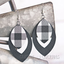 White Buffalo Plaid Earrings