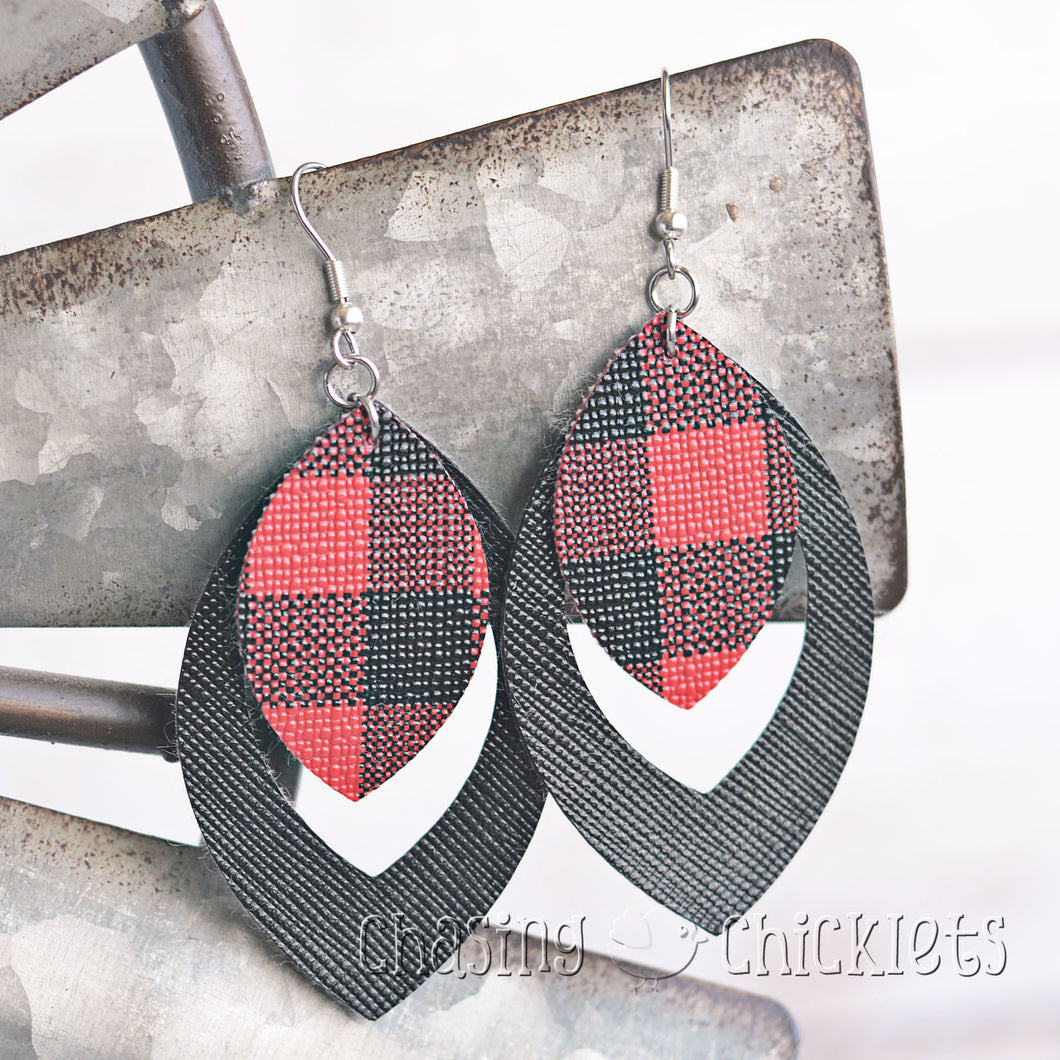 Red Buffalo Plaid Earrings