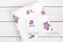 Purple Pansy Muslin Swaddle